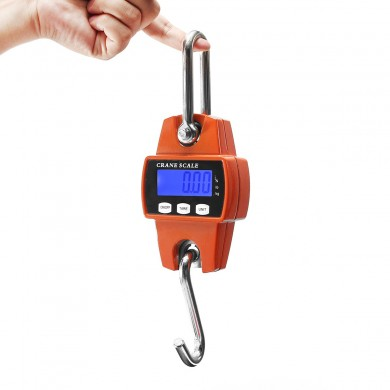 Mini Portable LCD Digital Electronic Crane Scale Hook Hanging 300KG 600LBS