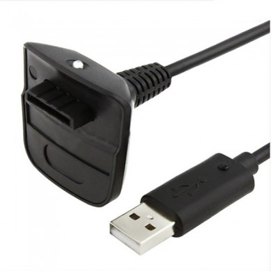Black Color Wireless Controller USB Charging Cable for Xbox 360