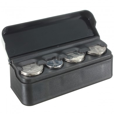 Car Interior Plastic Coin Case Storage Stored Box Holder Container Organizer