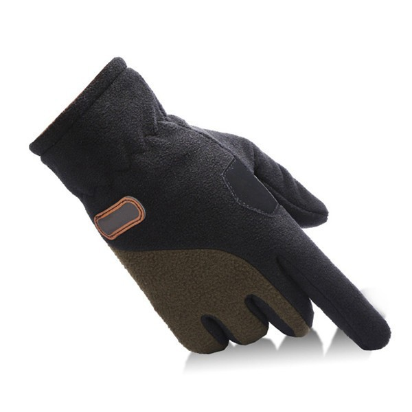 Unisex Thermal Fleece Driving Golves Outdoor Sports Cycling Screentouch Adjustable Mittens