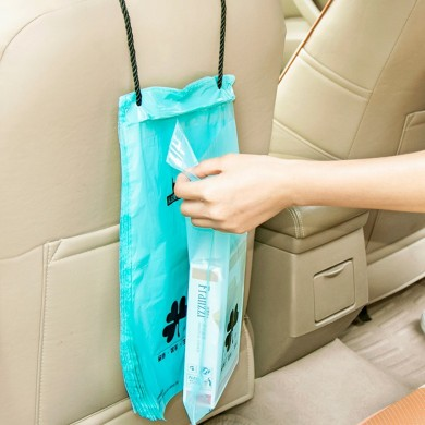 50pcs Vehicle Car Seat Back Hanging Trash Storage Garbage Rubbish Sealed Bags