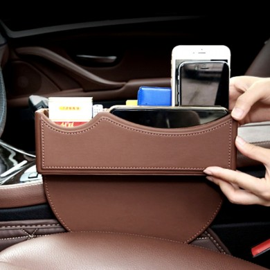 Car Seat Storage Box Gap Filler Catcher Phones Keys Cards Holder Organizer Collector