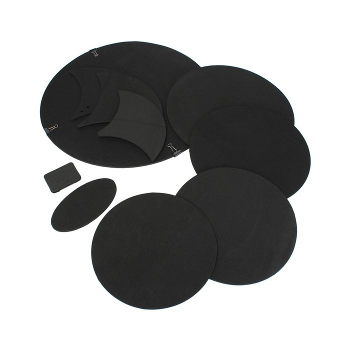 10pcs Bass Snare Drum Sound Off Mute Silencer Drumming Rubber ...