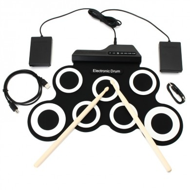 Digital Portable Roll Up Electronic Drum Kits Pad with Pedal Drum Sticks