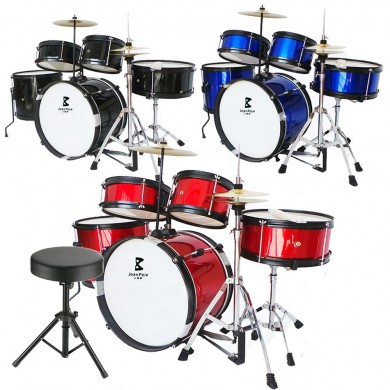 Jeanpole Drum Kit Set Toy Musical Kids Instrument Boy Junior Instruments