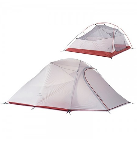 Naturehike NH15T003-T Ao ar livre 3 Pessoas Camping Tent Double Layer Waterproof UV Sunshade Canopy