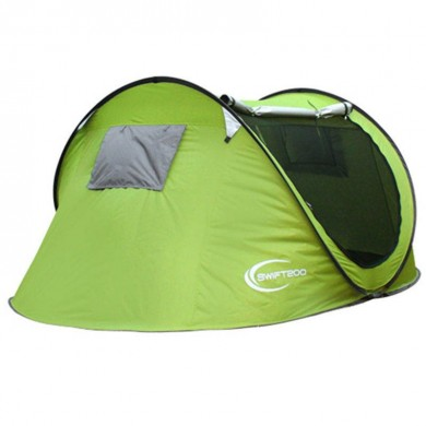 Outdoor 3-4 Persons Camping Tent Automatic Open Waterproof Single Layer Sunshade Canopy