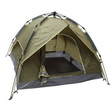 Outdoor 3-4 Pessoas Camping Tent Automatic Double Layer Impermeável Windproof UV Sunshade Canopy