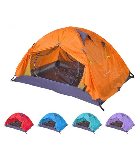Outdoor 2 Pessoas Camping Tent Double Layer PU 4000 Waterproof Canopy Sunshade