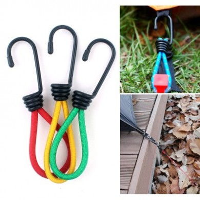 IPRee 15cm Multi-purpo Tent Elastic Rope Buckle Tent Retractor Pull Ground Nail for Camping Hiking