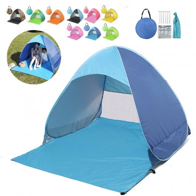 Portable Pop Up Folding Beach Sunshade Tent Automatic Quick Open UV Canopy Shelter