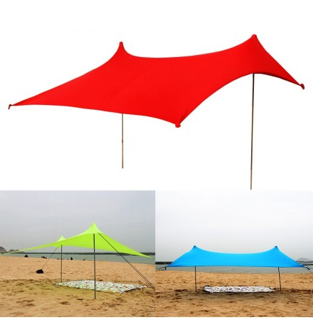 Outdoor 4 Persons 210210cm Lycra Beach Ultra Lights Camping UV-Proof Fishing Tent Sunshade