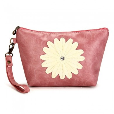 Women Sunflower Coin Purse Clutch Bag Cosmetic Bag
