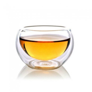50ML Drinking Heat Resistant Double Wall Layer Glass Tea Cup