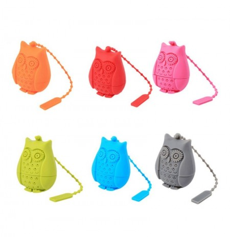 Honana CF-BT01 Silicone Non-toxic Owl Tea Bags Strainers Tea Spoon Filter Infuser Coffee Tea Tools