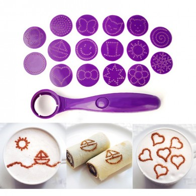 Electrical Magic Spice Spoon Coffee Spray Mold Art Pen for Coffee Carving Spoon Baking Pastry Tools