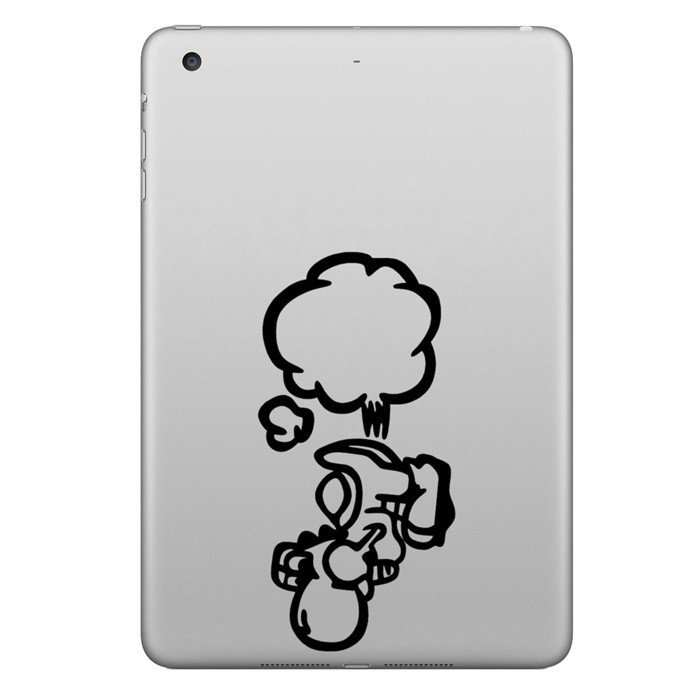 Hat-Prince Farting Decorative Decal Removable Bubble Free Self-adhesive Sticker For iPad 9.7 Inch