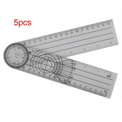 5pcs Multi-Ruler 360 Degree Goniometer Angle Spinal Ruler