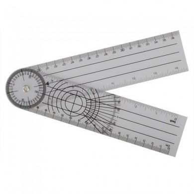 Professional 360 Degree Multi-Ruler Goniometer Angle Spinal Ruler