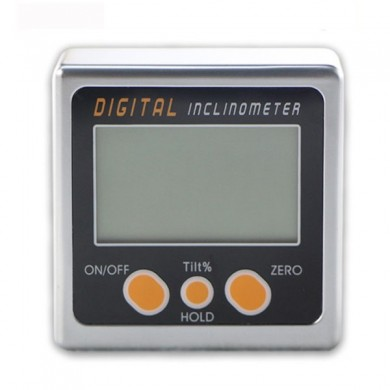 0-360 Digital Inclinometer Mini Bevel Box Angle Gauge Protractor Level Tool with Magnetic Base
