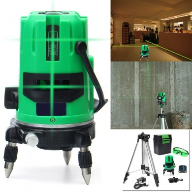 Green 5 Line 6 Points Laser Level 360 Rotary Laser Line Self Leveling with Tripod