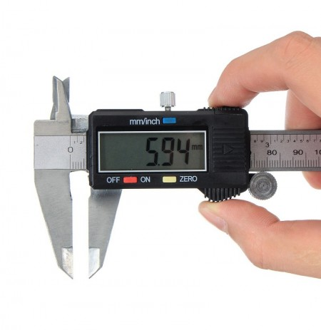 Digital Caliper LCD Stainless Electronic Ruler Micrometer Measuring 0-6inch 150mm