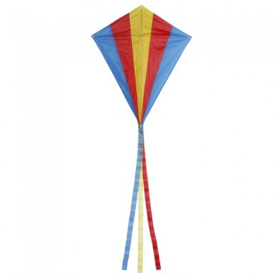 Outdoor Multicolor Triangle Rhombus Flying Kite With 30M Line