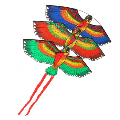 Outdoor Beach Park Polyester Camping Flying Kite Bird Parrot Steady With String Spool For Adults Kid