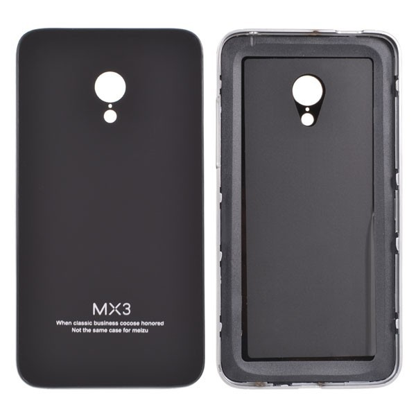 Toughened Glass Back Cover Aluminum Frame PC Case For MEIZU MX3