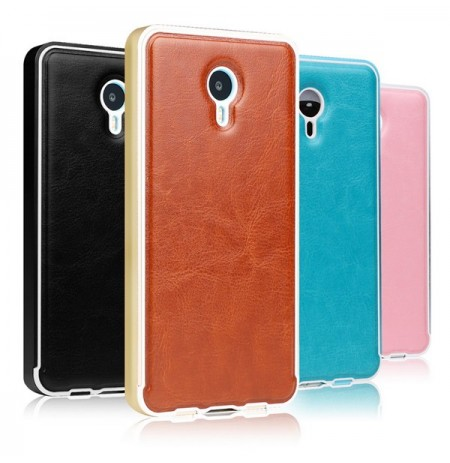 MOFI Aluminum Metal Frame Pu Leather Back Case For Meizu M1 Note