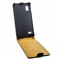 Retro Leather Up Down Flip Protective Case For LG P760 Optimus L9