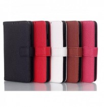 Fashion Magnetic Clasp Litchi Grain Leather Case Cover For LG F70