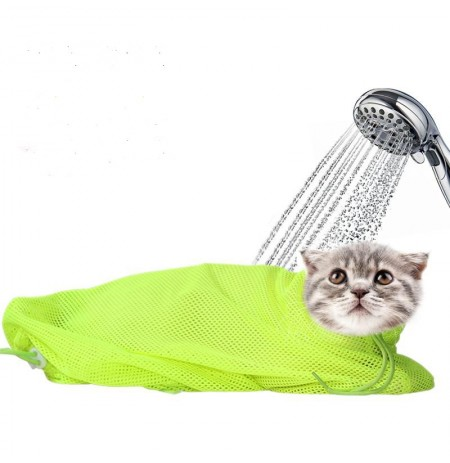 Pet Cat Cleaning Grooming Bag Add Hat  Multi-function Bath Nail Cutting Pick Ear Protect Bags