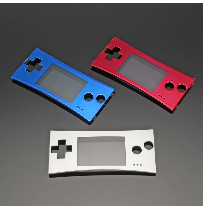 Replacement Front Shell Faceplate Cover Case Part For Nintendo Gameboy Micro GBM (Color: Silver) фото