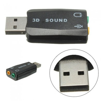 Externe USB 2.0 für 3D Virtual Audio Soundkarte Adapter Converter 5.1 Kanal
