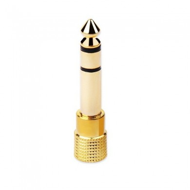 Gold Plated 6.35mm Male to 3.5mm Female Microphone Audio Convertor