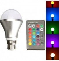Dimmable RGB Color Changing 4W B22 LED Light Bulb Bayonet with IR Remote Controller
