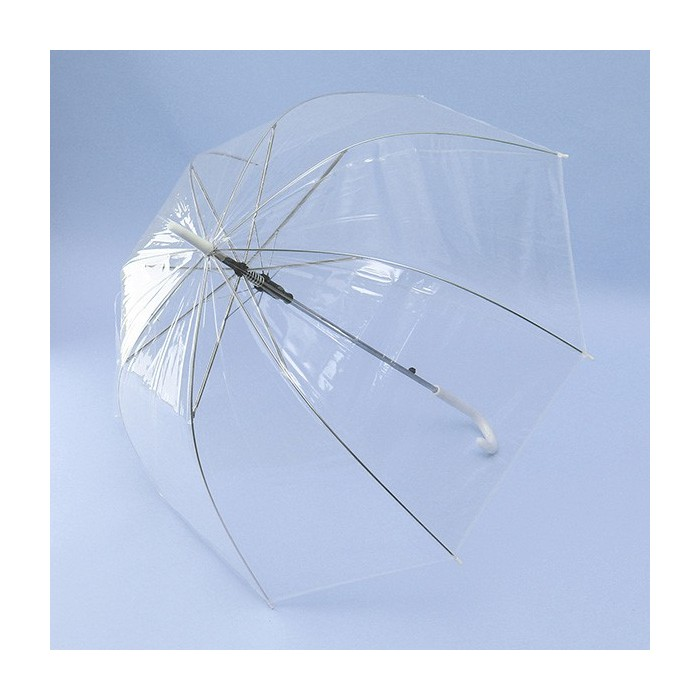 128a85170 Clear Dome See Through Long Handle Transparent Umbrella