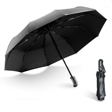 Emergency Break Window Umbrella Automatic Folding Umbrella Anti-UV Men Big 10 Ribs Windproof Umbrellas Rain Gear