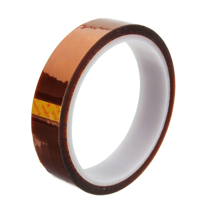20mm x 100ft Kapton Tape High Temperature Heat Resistant Polyimide Gold