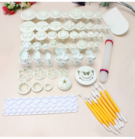 21 Sets 68 PCS Fondant Cake Decorating Mold Set 04072