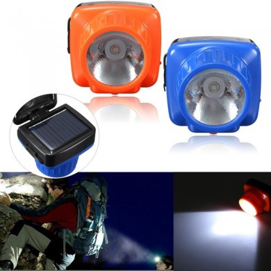 Adjustable Rechargeable Solar Powered LED Headlamp Light for Camping Safety