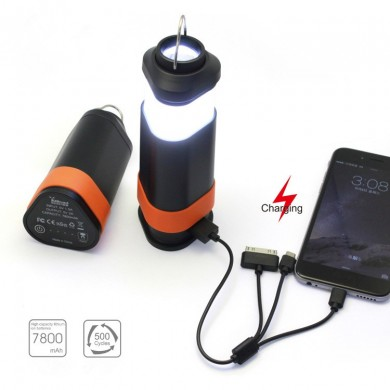4 In 1 Outdoor Night Running Safety LED Light With Power Bank Magnet Work Light