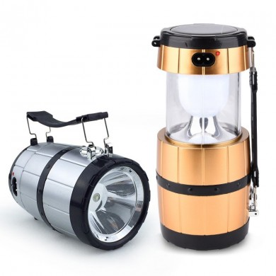 Retractable Camping Tent Solar Lantern Outdoor Portable Emergency LED Light Lamp