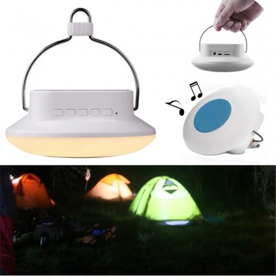 Outdoor LED Hanging Camping Tent Light Multifunctional Lantern with FM Radio Bluetooth Speaker