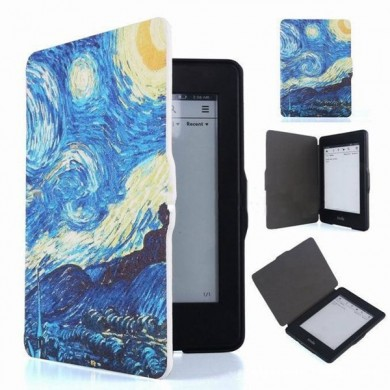 Flip Ebook Reader Folio  Kasten Abdeckung Van Gogh Gemälde für Amazon Kindle Paperwhite