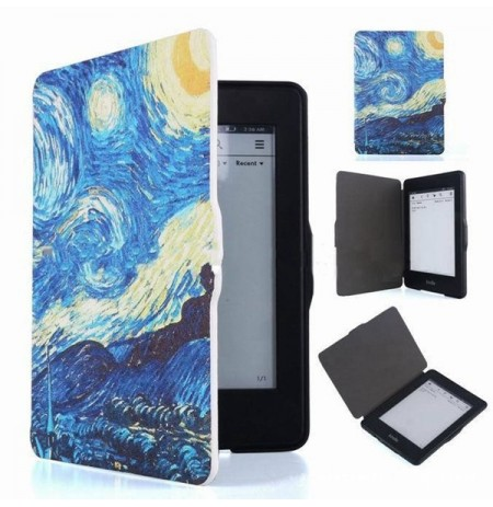Pintura gogh ebook reader aleta caso folio tampa van para amazon Kindle Paperwhite