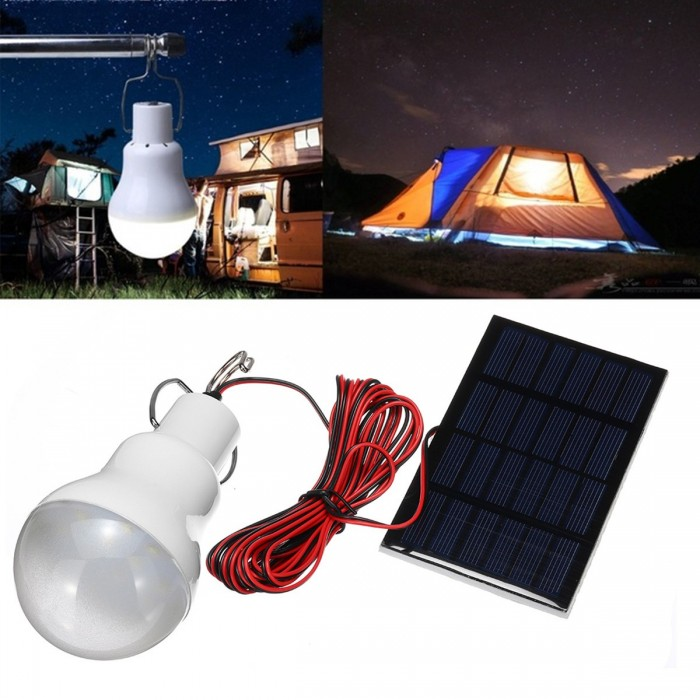 15w 20w Solar Panel Led Bulb Light Portable Outdoor Camping Emergency Lamp