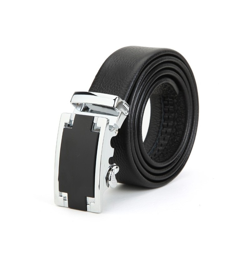 120CM Men Belt First Layer Cowhide Automatic Adjustable Buckle Strip фото