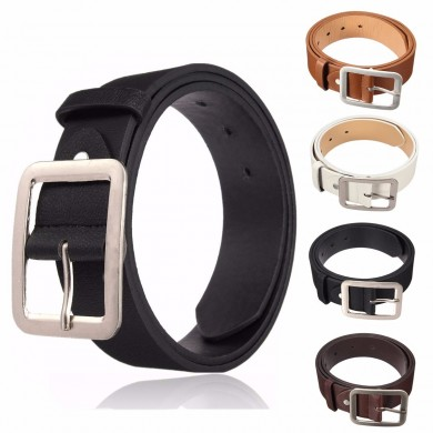 Men Business PU Leather Belts Casual Pin Buckle